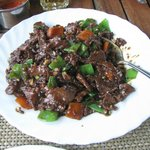                   Sliced beef with black bean sauce