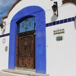                    Front door to Hacienda Paraiso