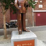 Statue of Dr Sun Yat Sen in Cohen Place