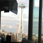                    View of the Space Needle from hotel room