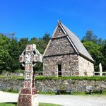 Irish National Heritage Park - church in early Christian Monastery