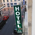 Hotel sign from our window