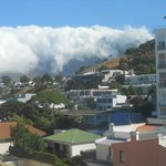 Table Mountain covered in cloud