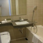 Clean and fairly spacious bathroom