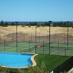 Pool, tennis court, gold course and ocean view