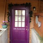                    The door to the lavender suite