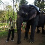 This is me with the cute Rani, the most friendly elephant i have ever seen!!