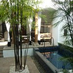 private courtyard & plunge pool