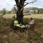 Lunch in Selous Game Reserve