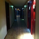 The corridor to the hotel rooms