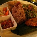                    vegetarian nasi campur