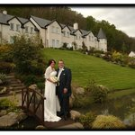                    Our wedding day at Loch Ness Lodge