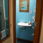 Small but serviceable shower room