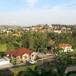 A view across the upmarket suburbs of Kigali, from the terrace of my Golf Hill
