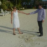 dancing at the beach after weddding ceremony