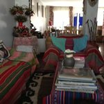 sitting/dining room at kusillo's posada