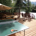  Our brand new riverside deck - relax or play some ping-pong