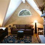  Chalet Suite with huge Field Stone Fireplace and bead board ceilings