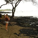                    Beach to the left (south) of Lava Lava where turtles beach frequently in the m