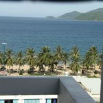                    view from hotel room to Nga Trang beach