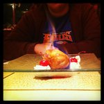 Fried Ice Cream, on FIRE!