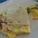 A healthy start to the day! Delicious fresh hot omelet