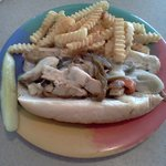 Philly Cheese Steak Sandwich with Chicken