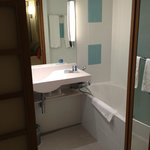                    Really nice bathroom with separate shower (on the left hidden)