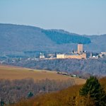 View of castle from afar, near Kusel, Germany