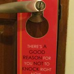                    Nice do not disturb sign
