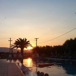                    sunset over costas pool