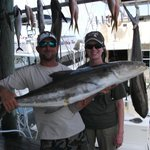                    Nick Campbell with Dawn and her large Cobia