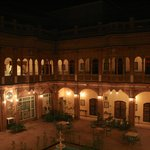                    The inner courtyard at night.