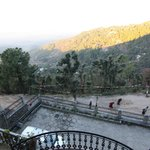                    View of Kangra valley. Below is the dirt road to the parking at hotel