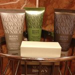 Luxury bath toiletries