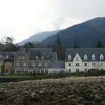  View of hotel from loch shoreline