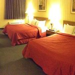                    Panorama of a room with two queen beds