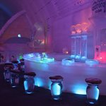 Ice bar at the Aurora Ice Museum