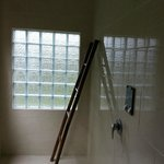 shower area and Bali style towel rack