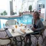 Breakfast by the swimming pool