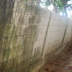                    leaning hotel boundary wall!