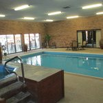 Super clean heated indoor pool & hot tub area.
