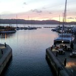                    The Knysna waterfront at sunect. The Lodge is at the end of the bay