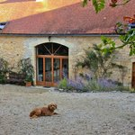                                      Sunrise over the converted barn, where we stayed.