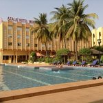                                      Pool area of the Azalai Hotel