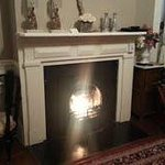                    Lovely fireplace in the Huntington Room