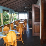                                      The restaurant, outside