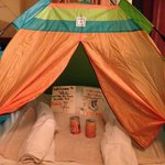                    tent for kids in room upon arrival