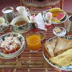                    One of the breakfasts