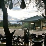 The Dining tent and lounge from the table of Maasai handicraft